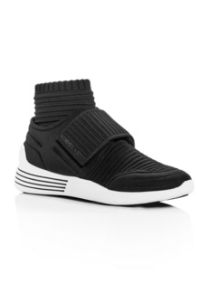 Kendall + Kylie Women's Brax Ribbed Knit Mid-Top Wedge Sneakers