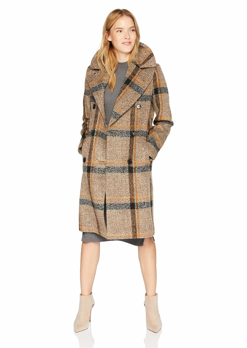 KENDALL + KYLIE Women's Double Breasted Wool Coat