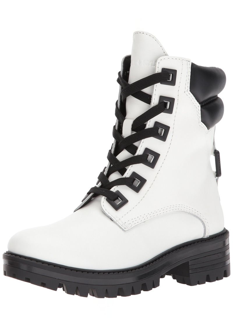 KENDALL + KYLIE Women's East Combat Boot   Medium US