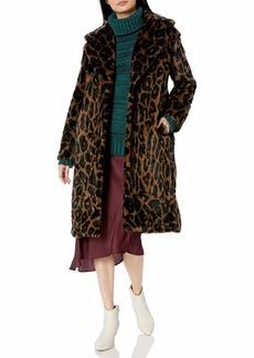 Kendall + Kylie Women's Faux Fur Coat  S