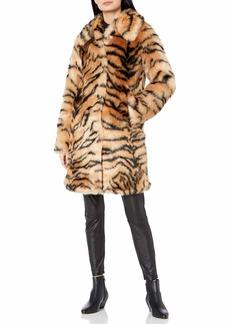KENDALL + KYLIE Women's Faux Fur Coat  XS