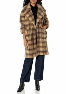 KENDALL + KYLIE Women's Faux Fur Coat  L
