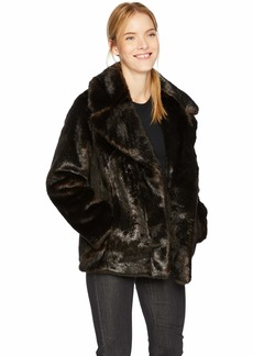 KENDALL + KYLIE Women's Faux Mink Coat