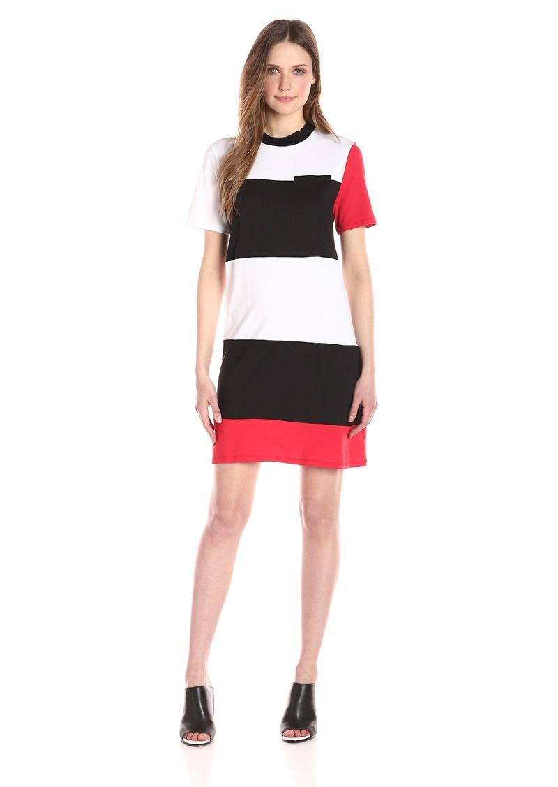 Kendall + Kylie Women's Geo Striped Dress  L
