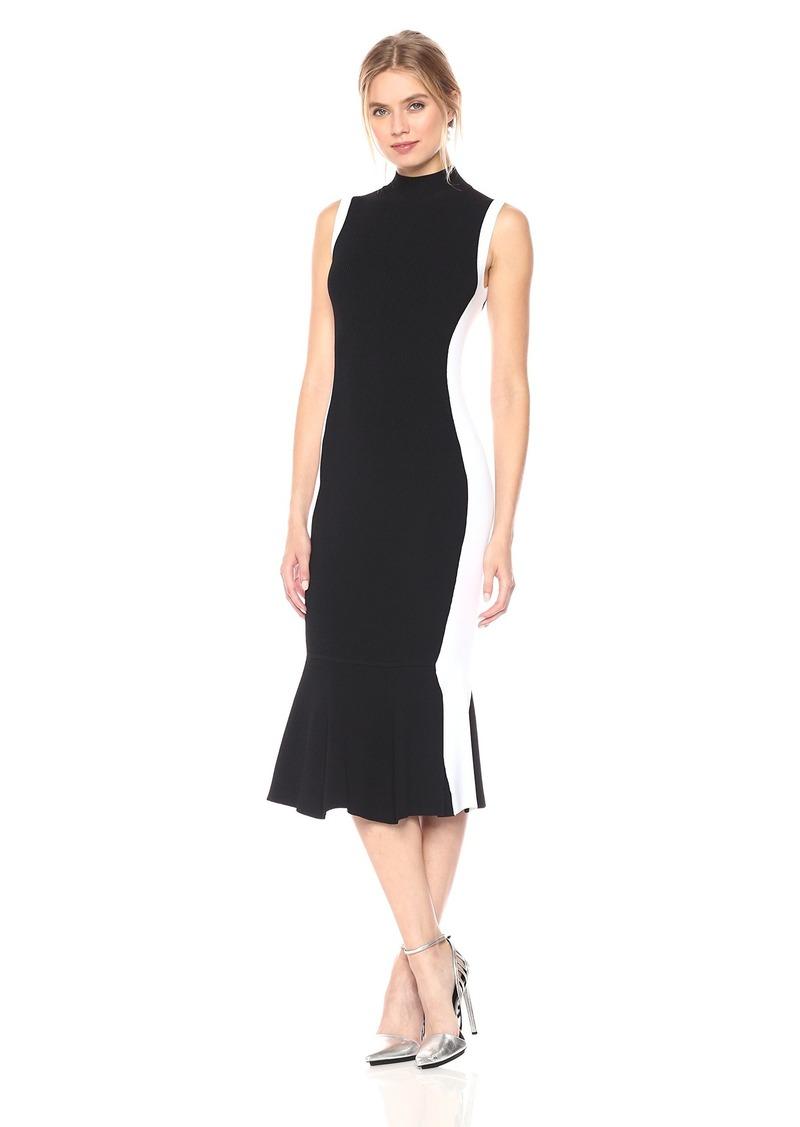 KENDALL + KYLIE Women's Illusion Peplum Dress  S