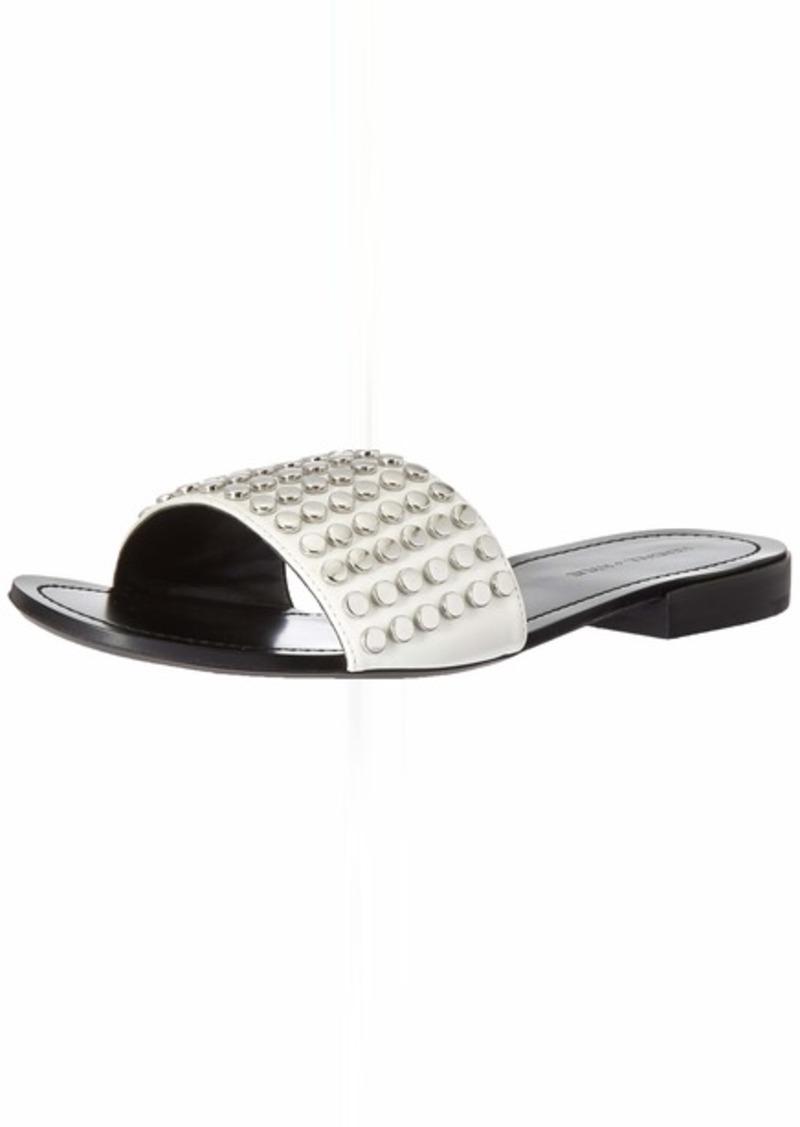 KENDALL + KYLIE Women's Kelsy Slide Sandal White/Multi ll  M US