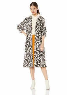 KENDALL + KYLIE Women's Long Trench Coat  S