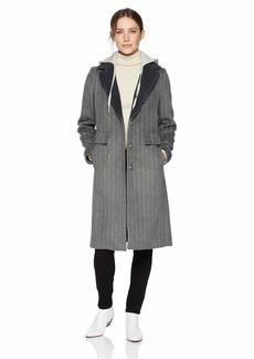 KENDALL + KYLIE Women's Pinstripe Wool Coat