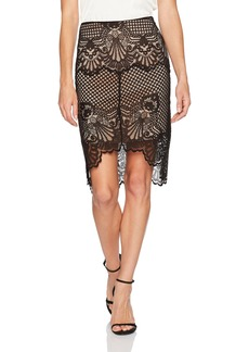 Kendall + Kylie Women's Scallop Lace Pencil Skirt  XS