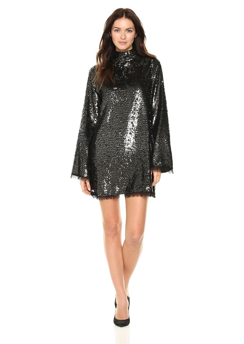 Kendall + Kylie Women's Sequin Mock Neck Dress  Extra Small