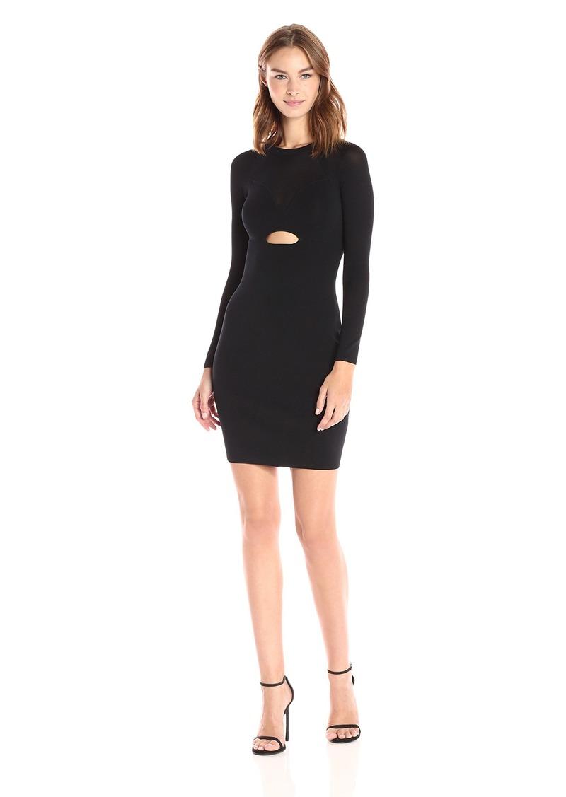 KENDALL + KYLIE Women's Sheer Yoke L/s Dress  XS