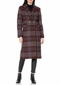 Kendall + Kylie Women's Single Breasted Wool Coat