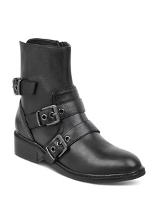 Kendall + Kylie KENDALL and KYLIE Women's Nori Round Toe Leather Low-Heel Booties