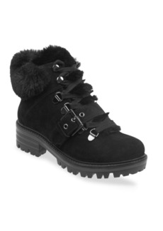 Kendall + Kylie Kkedison Faux Fur-Lined Suede Ankle Boots