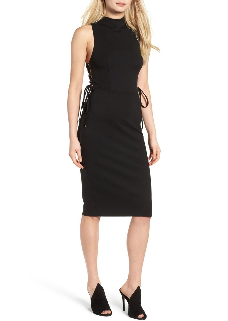 Kendall + Kylie Lace-Up Midi Dress