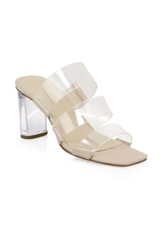 Kendall + Kylie Leila Leather and PVC Strap Sandals