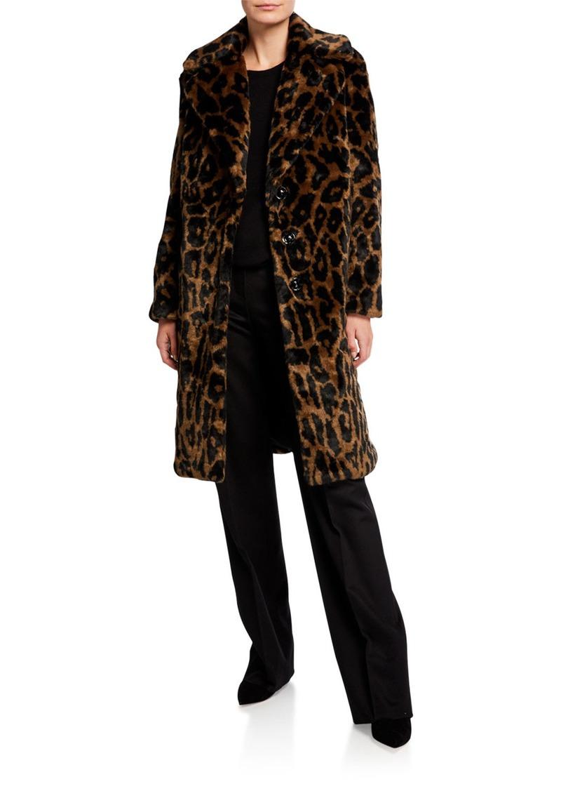 Kendall + Kylie Leopard Faux-Fur Coat