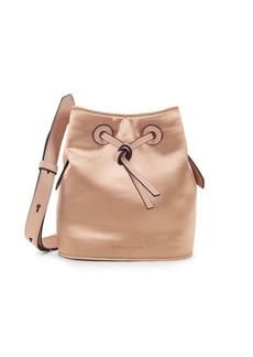 Kendall + Kylie Micro Satin Drawstring Bucket Bag