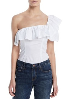 Kendall + Kylie One-Shoulder Ruffle Bodysuit