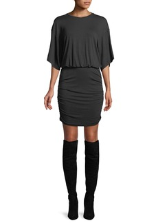Kendall + Kylie Open-Back Ruched Tee Dress
