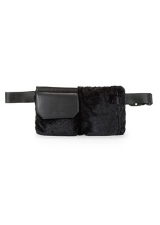 Kendall + Kylie Plush Faux Fur Belt Bag