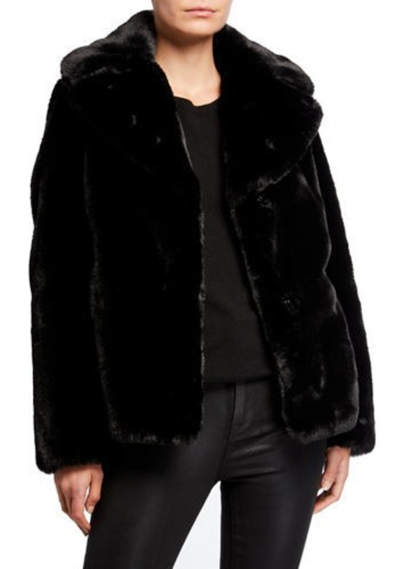 Kendall + Kylie Reversible Faux-Fur Coat
