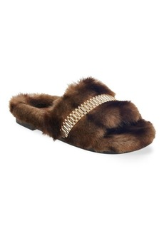Kendall + Kylie Shade Faux Fur Slippers