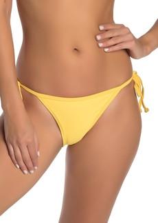 Kendall + Kylie Solid Side Tie Bikini Bottoms