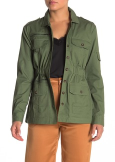 Kendall + Kylie Spread Collar Military Jacket