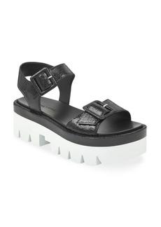 Kendall + Kylie Wave Leather Platform Sandals
