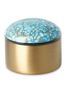 Kendra Scott Antique Brass Plated Mini Decorative Dome Box