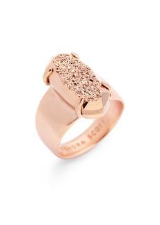Kendra Scott Harrison 14K Rose Gold Plated Brass Cocktail Ring