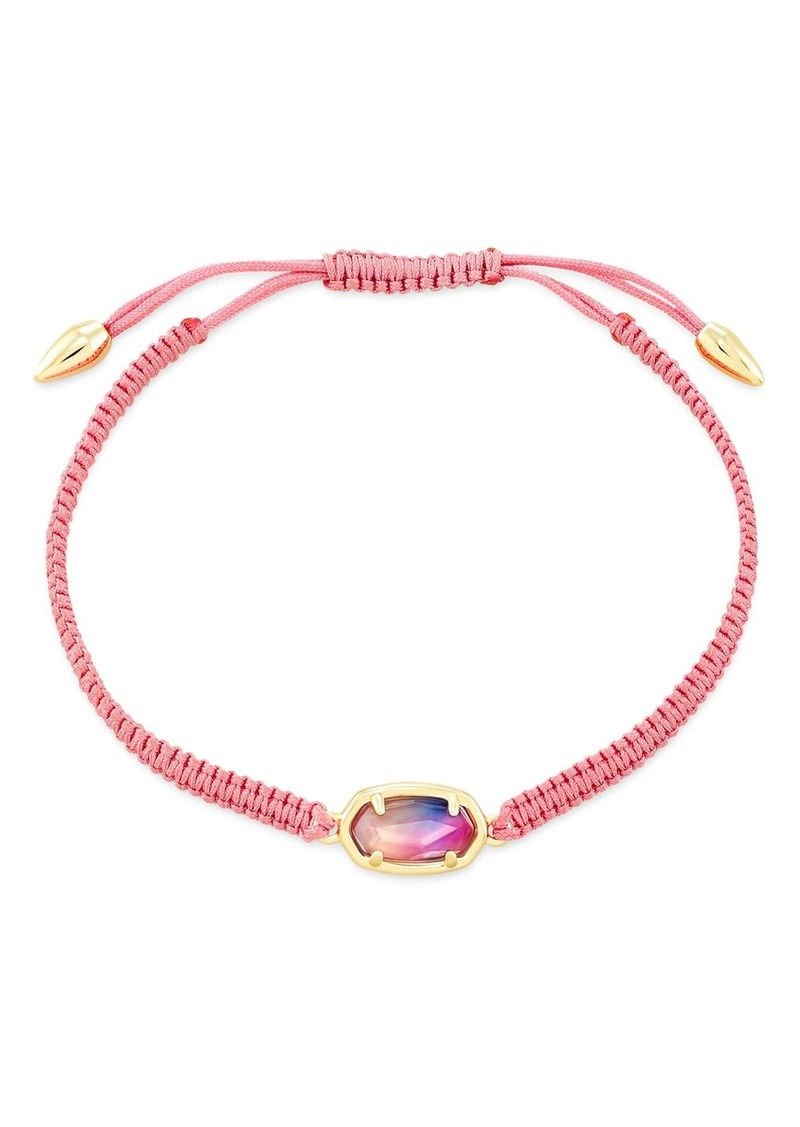 Kendra Scott 14K Gold-Plated Grayson Watercolor Illusion Adjustable Friendship Bracelet