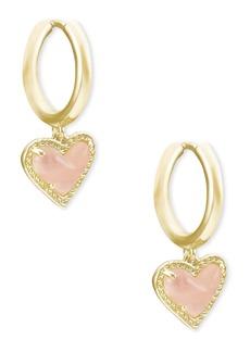 Kendra Scott Ari Heart Huggie Hoop Earrings