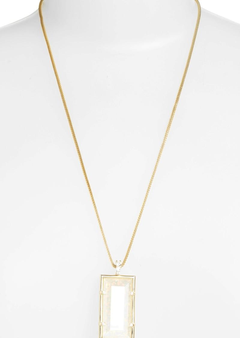 for gold long australian opal white pendants flashopal blue pendant sale handmade