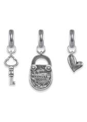 Kendra Scott Key To Heart Set of 3 Charms