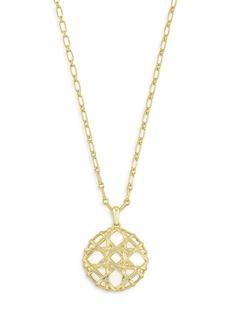 "Kendra Scott Natalie White Mussel Overlay Pendant Necklace, 30-32"""