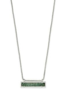 Kendra Scott Leanor Drusy Bar Pendant Necklace