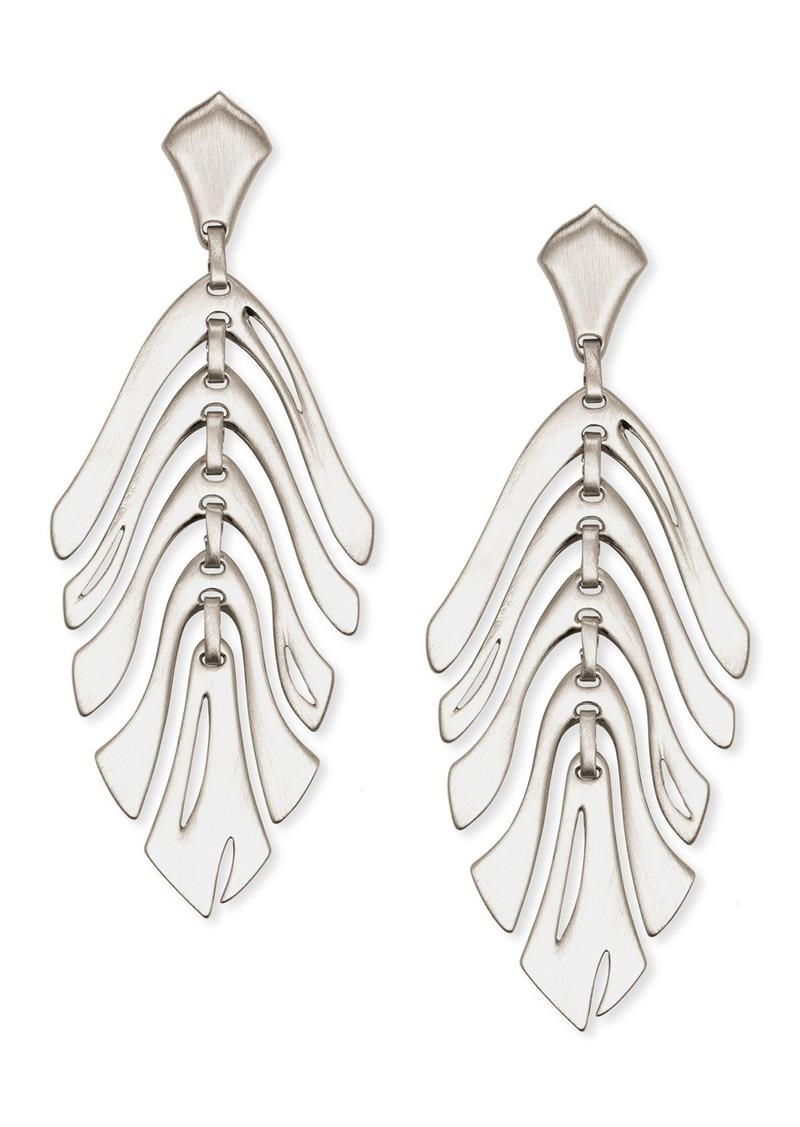 Kendra Scott Luca Leaf Drop Earrings