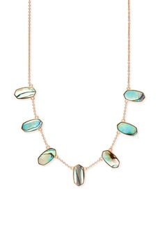 Kendra Scott Meadow Abalone Shell Station Necklace