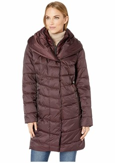Kenneth Cole 3/4 Mixed Quilt Puffer
