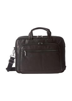 Kenneth Cole A Golden Op-Port-Unity Colombian Leather Laptop Brief
