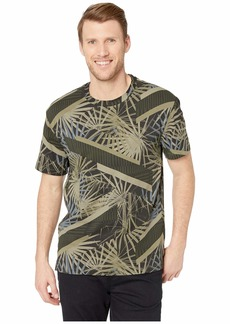 Kenneth Cole All Over Printed Palm Crew