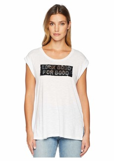 Kenneth Cole Basic High-Low Tank with Sequins
