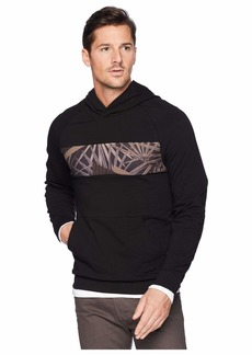 Kenneth Cole Blocked Hoodie w/ Chest Print