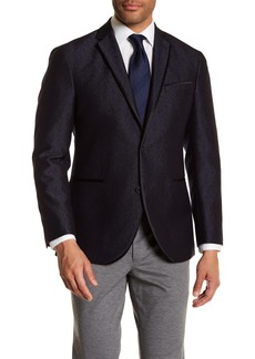 Kenneth Cole Jacquard Two Button Evening Trim Fit Jacket