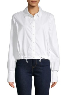 Kenneth Cole Boxy Cotton Shirt