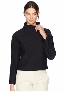 Kenneth Cole Brushed Knit Long Sleeve Top