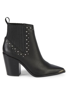 Kenneth Cole Bynona Studded Leather Western Booties
