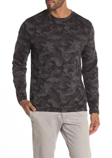 Kenneth Cole Camo Print Jacquard Long Sleeve T-Shirt